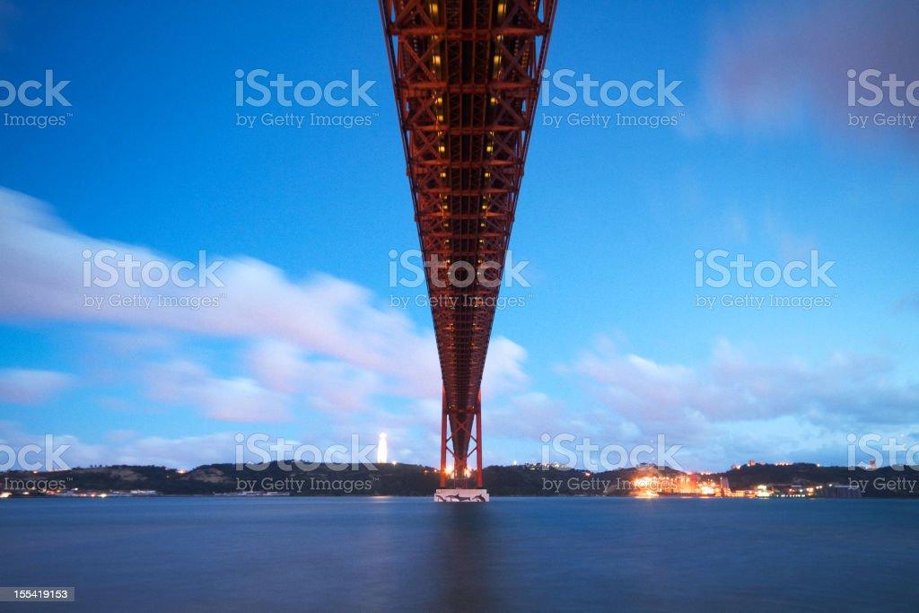 April 25th Bridge in Lisbon stock photo