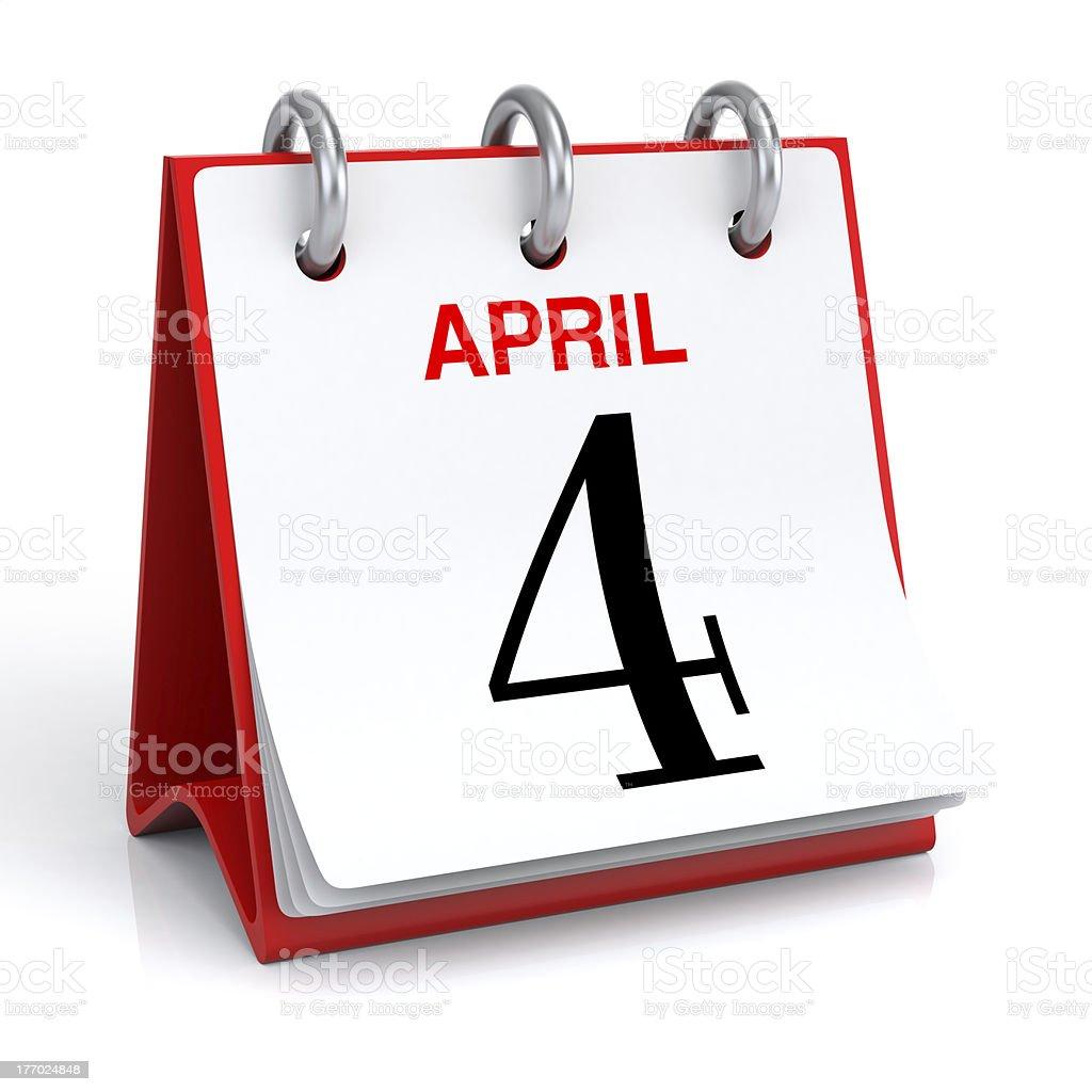 April Calendar royalty-free stock photo