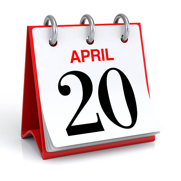 april calendar - number 20 stock photos and pictures