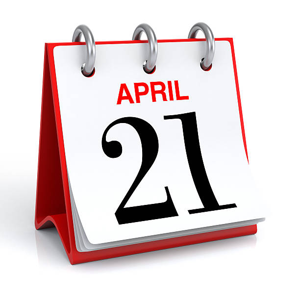 april calendar - number 21 stock photos and pictures