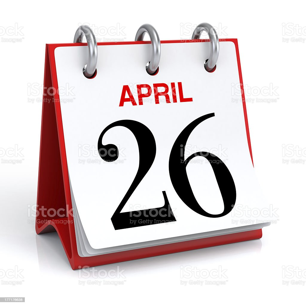 April Calendar royalty-free stock photo