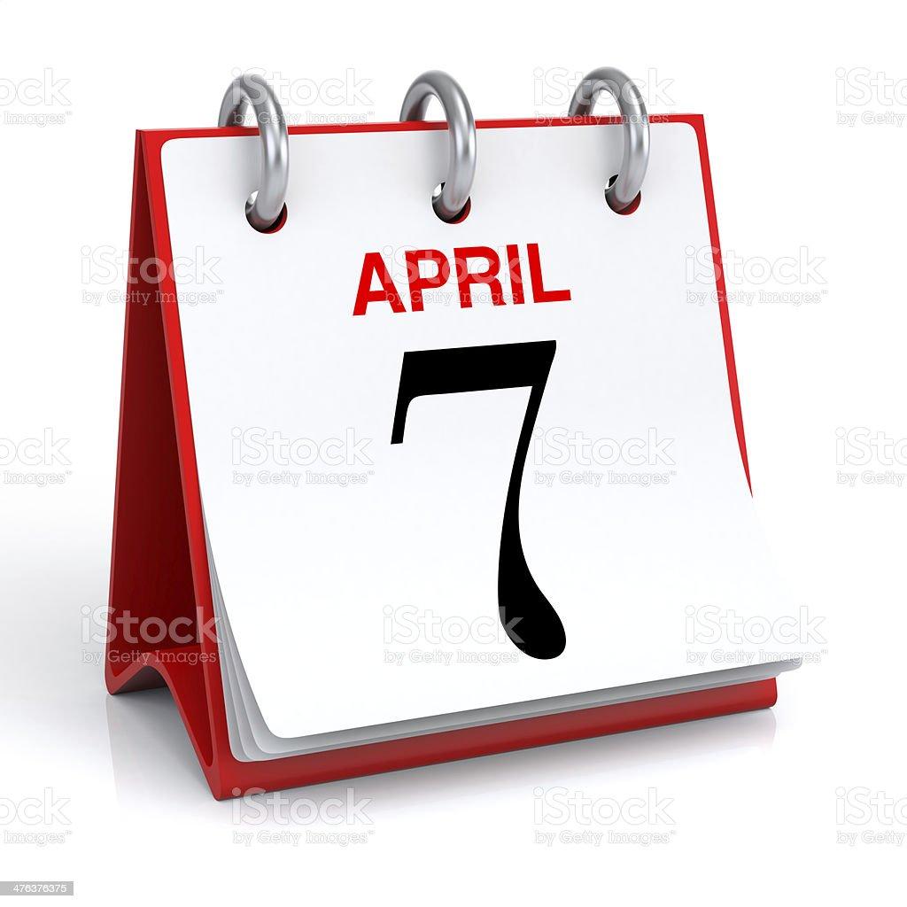 April Calendar stock photo
