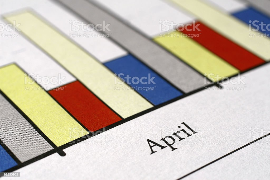 April - colorful charts royalty-free stock photo