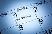 4月フールの一日の終わりには、カレンダー