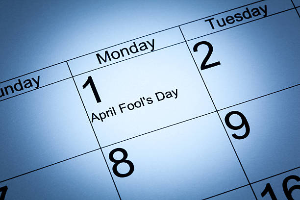 april fool's day in the calendar - april fools stock photos and pictures