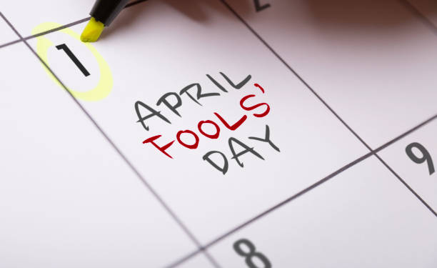 April Fools' Day - foto de acervo