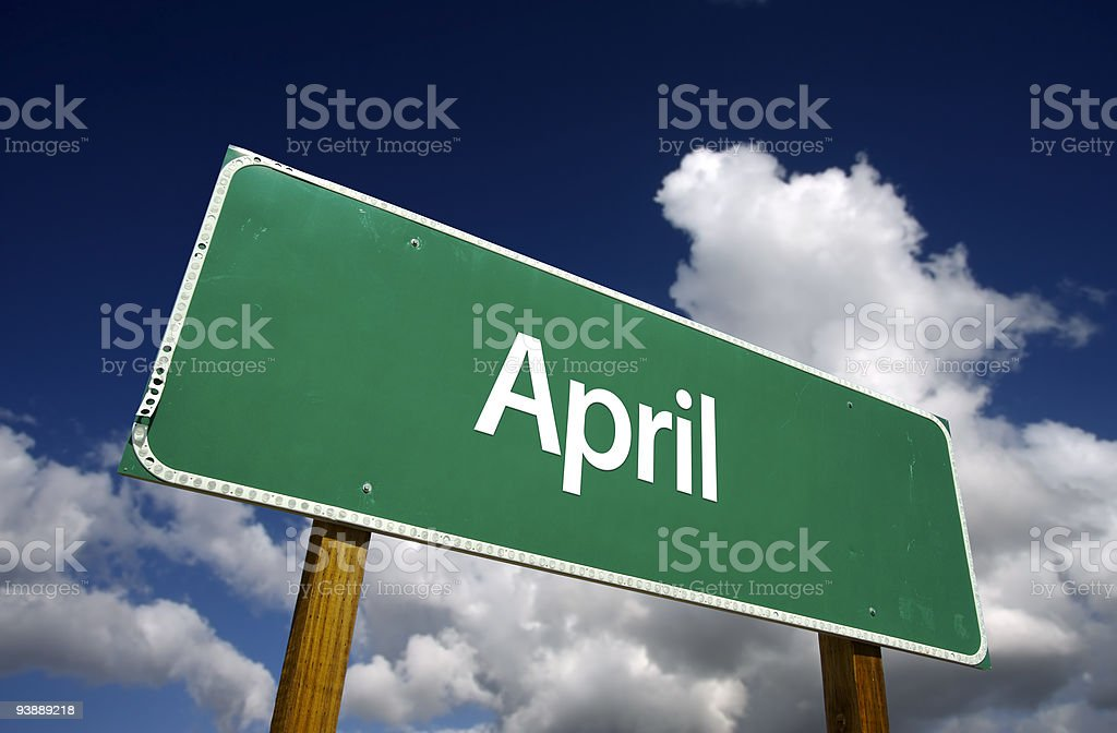 April Green Road Sign royalty-free stock photo