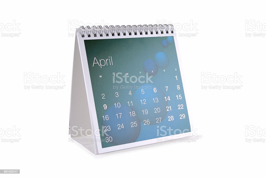April Isolated... royalty-free stock photo