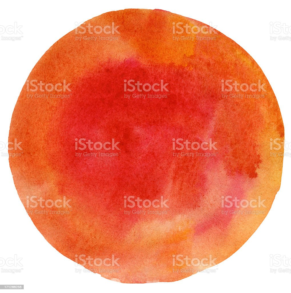 April Peach Read Watercolour Circle stock photo