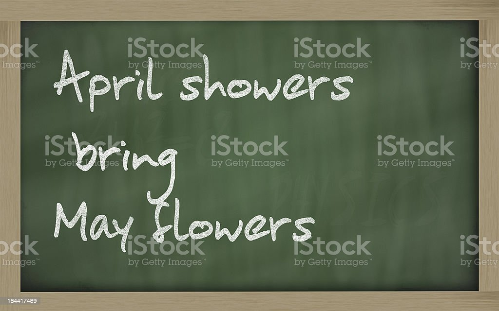 April showers bring May flowers royalty-free stock photo
