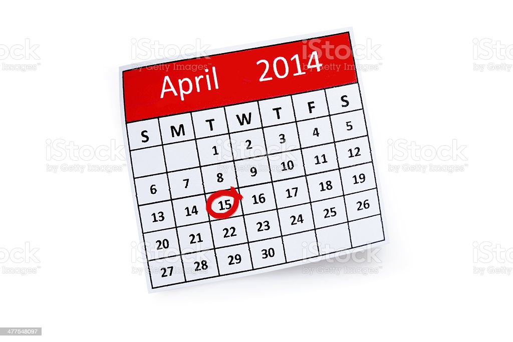 April , tax time stock photo
