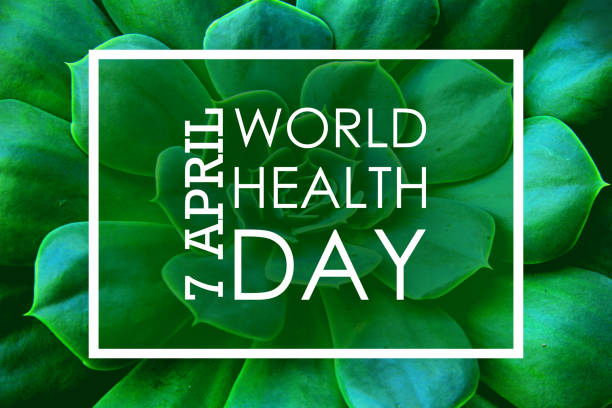 7 April World Health Day 7 April World Health Day. Green Background world health day stock pictures, royalty-free photos & images