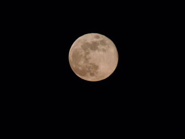 April's Pink Full Moon stock photo