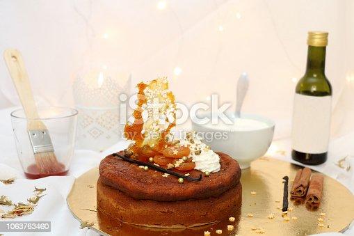 istock Aprioct Cake 1063763460