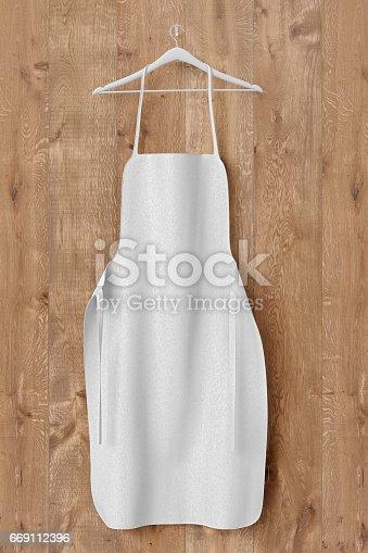 istock Apron, cooking clotch uniform mockup 669112396