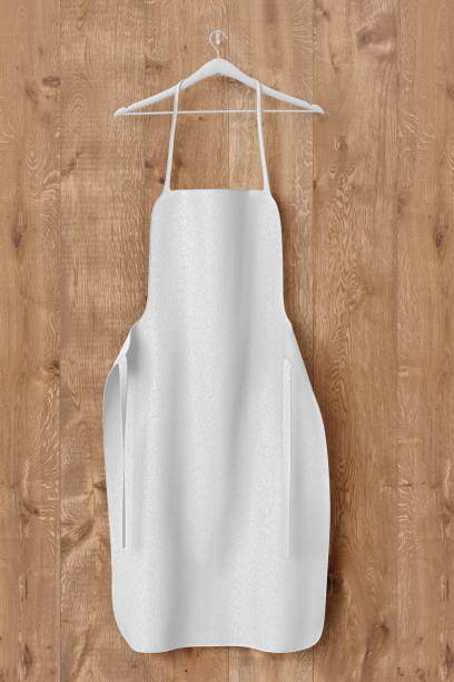Apron, cooking clotch uniform mockup stock photo