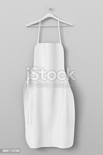 istock Apron, cooking clotch uniform mockup 669115298