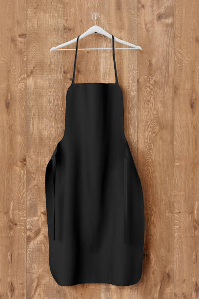 Delantal, maqueta uniforme de tela de cocción - foto de stock