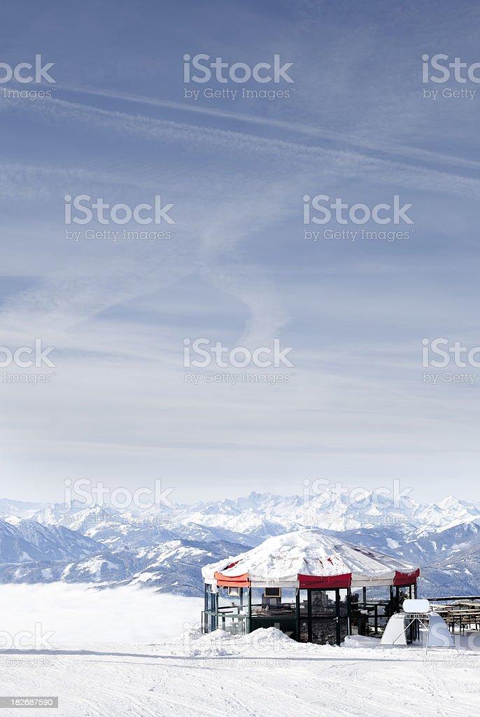 AprésSki Bar in the Alps royalty-free stock photo