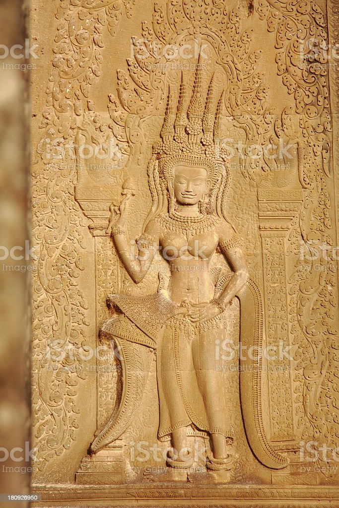 Apsara royalty-free stock photo