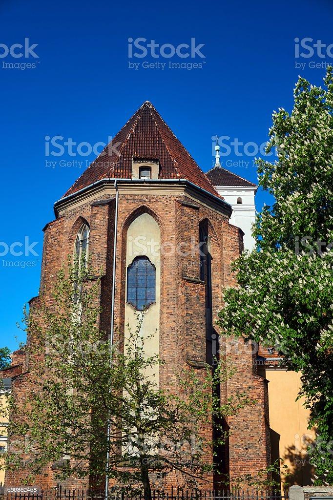 Apse gothic Catholic church royalty-free stock photo