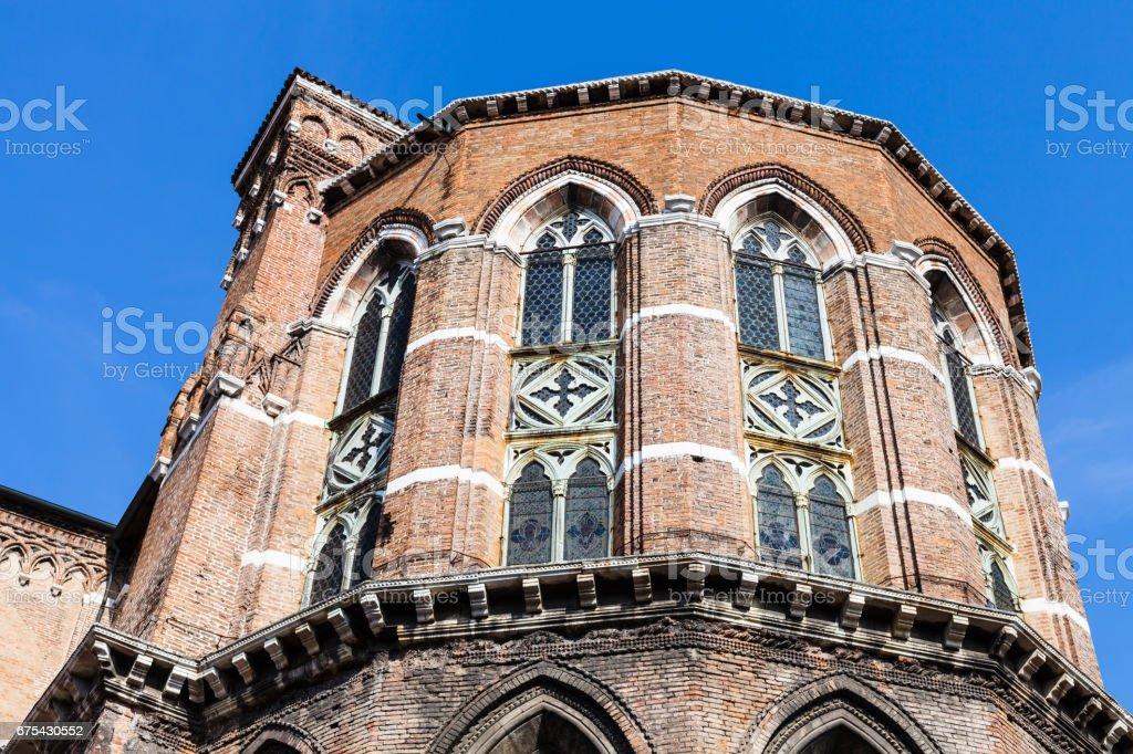 apse of Frari Church in Venice city royalty-free stock photo