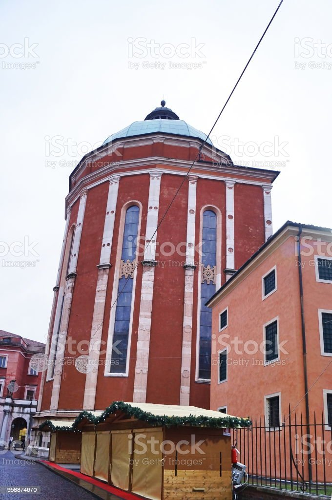 Apse of the cathedral of Vicenza stock photo
