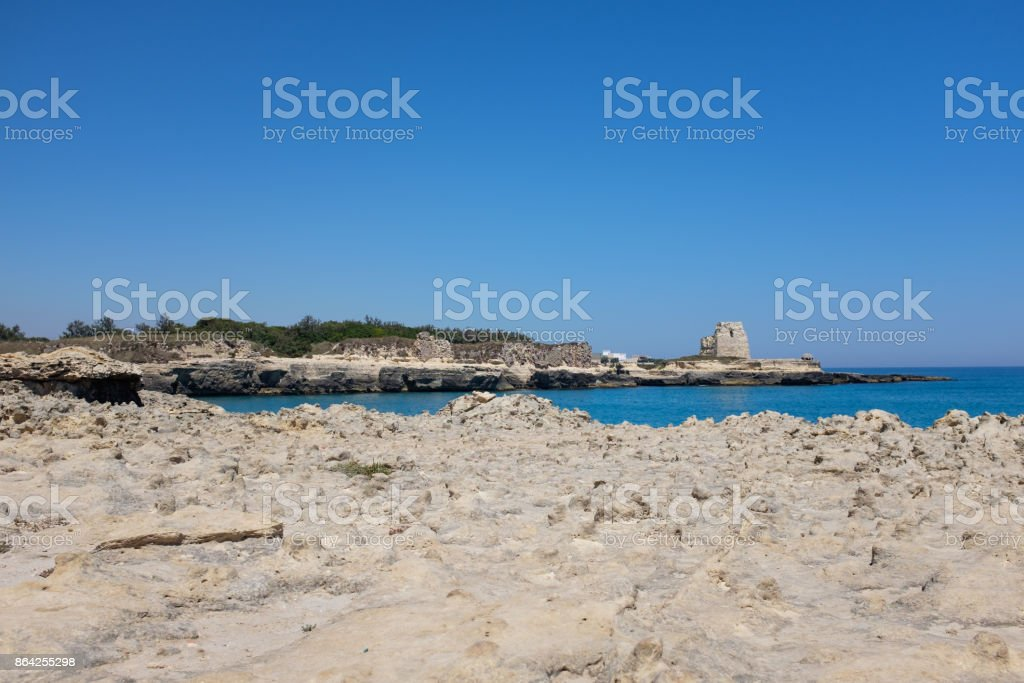 Apulian coastline in a summer day. Italy royalty-free stock photo
