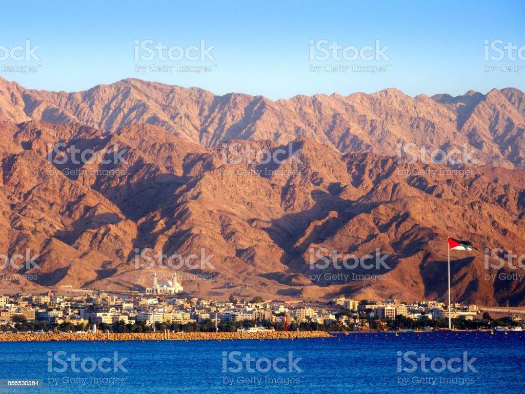 Aqaba City Seaside, Jordan stock photo