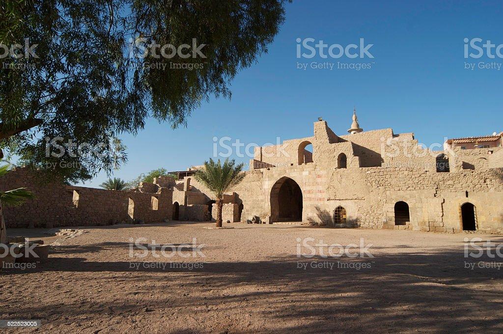 Aqaba fort stock photo