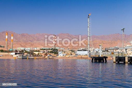 Aqaba port, oil terminal, Gulf of Aqaba, Hashemite Kingdom of Jordan