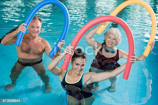 istock Aqua aerobics with seniors 612838644