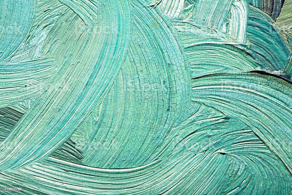 Aqua brush-strokes royalty-free stock photo