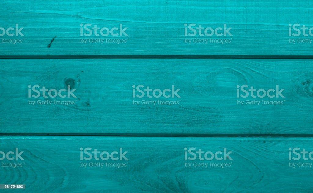 Aqua colour Treated wooden boards stock photo
