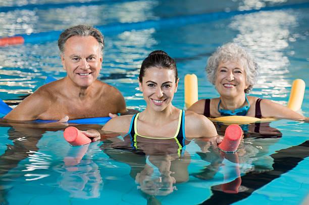 Aqua gym class - foto stock
