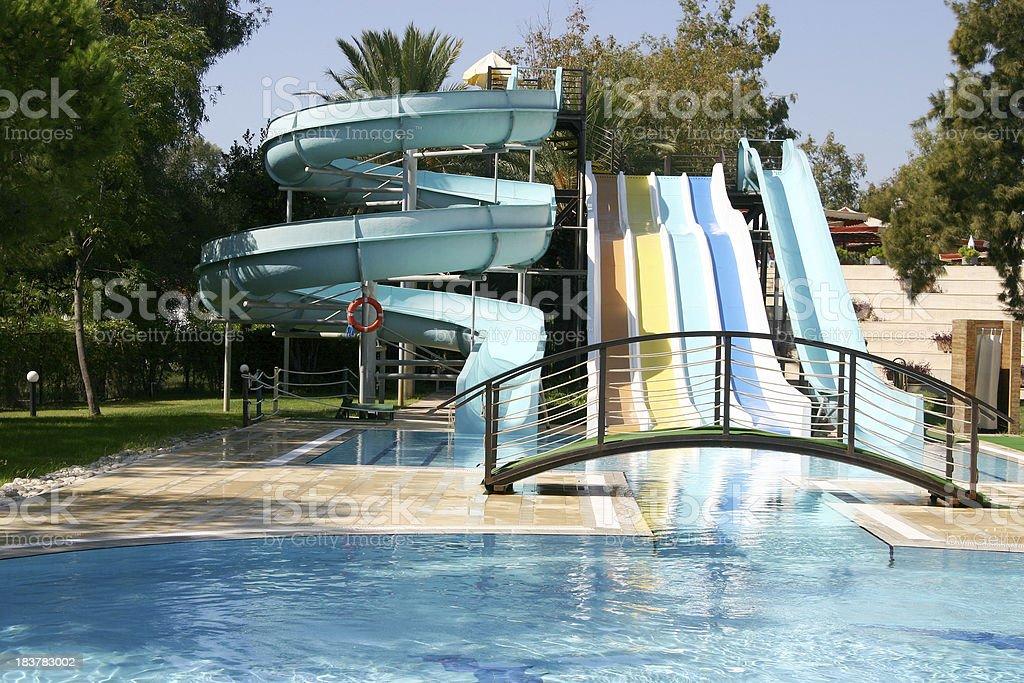 Aqua park construction stock photo