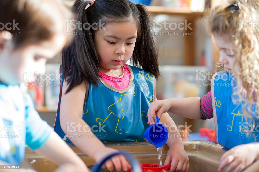 Aqua Play at Nursery - foto stock