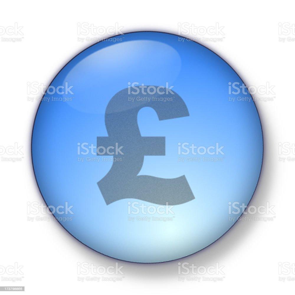 3D Aqua - pound sign royalty-free stock photo