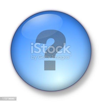 istock 3D Aqua - question mark 173798867