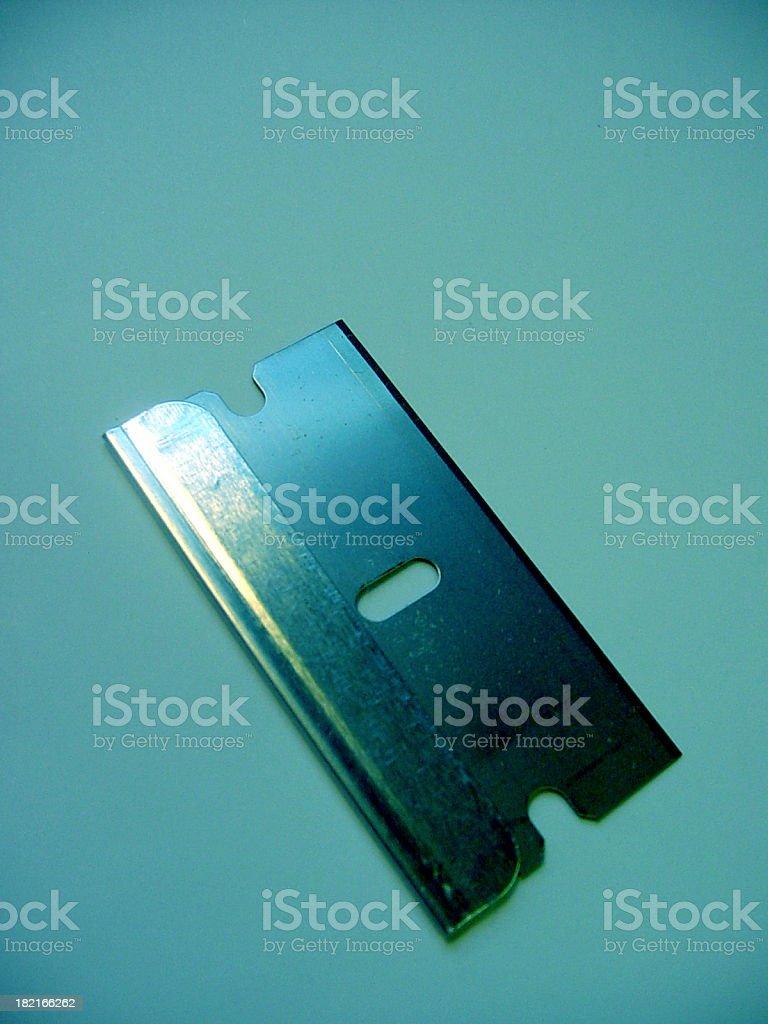 aqua razorblade royalty-free stock photo
