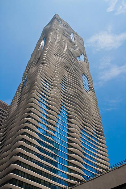 Aqua Skyscraper in Chicago stock photo