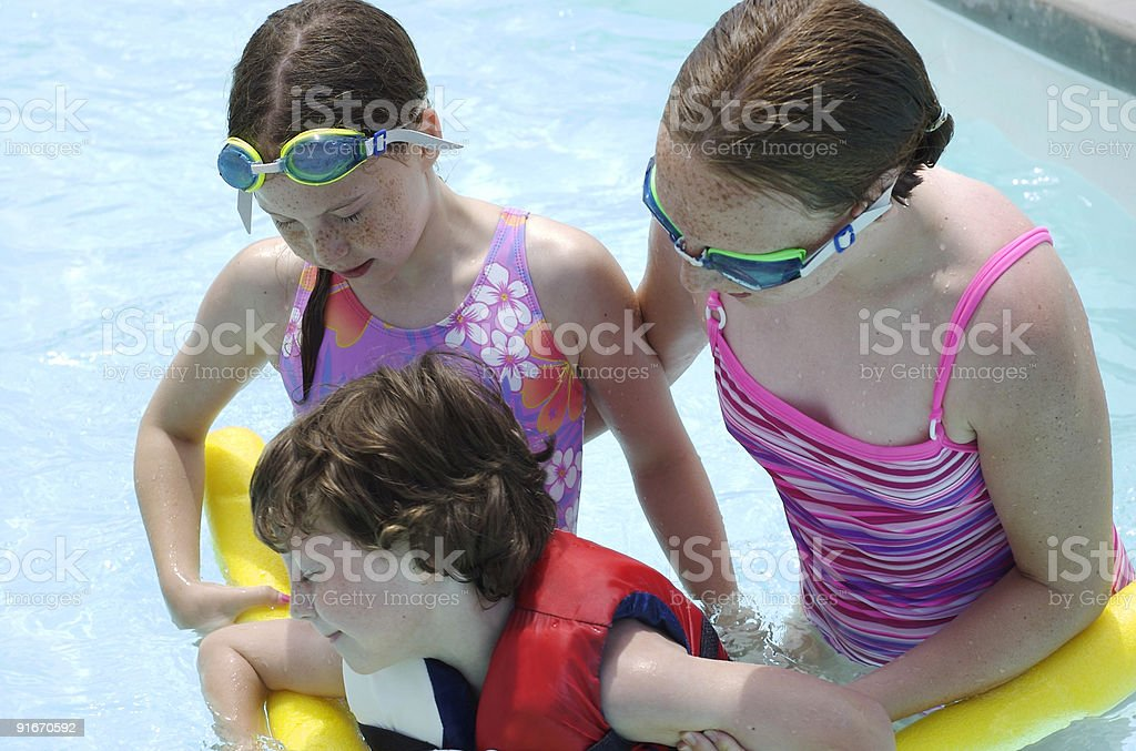 aqua training royalty-free stock photo
