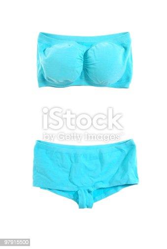 Aqua Underwear Stock Photo & More Pictures of Beauty