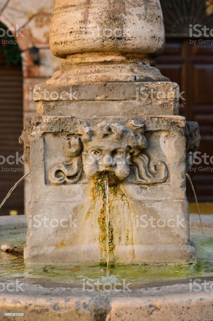 Aqua Virgo Fountain in Rome stock photo