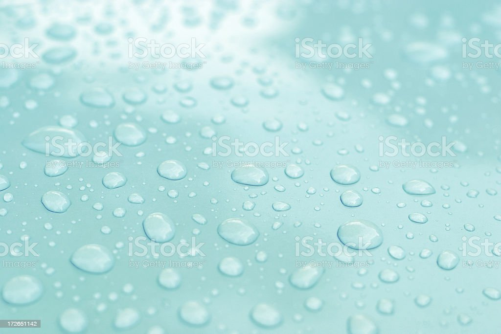 Aqua Water Droplets -02 royalty-free stock photo