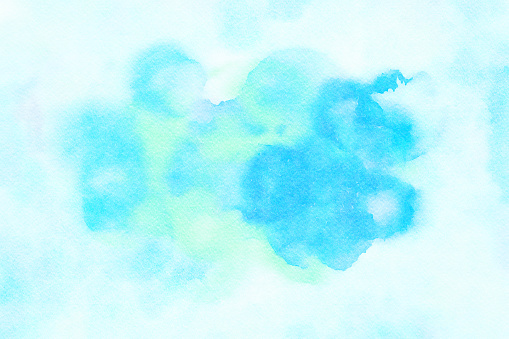1131857558 istock photo Aqua Watercolor Splotchy Wet Rings on Textured Paper 1147813866