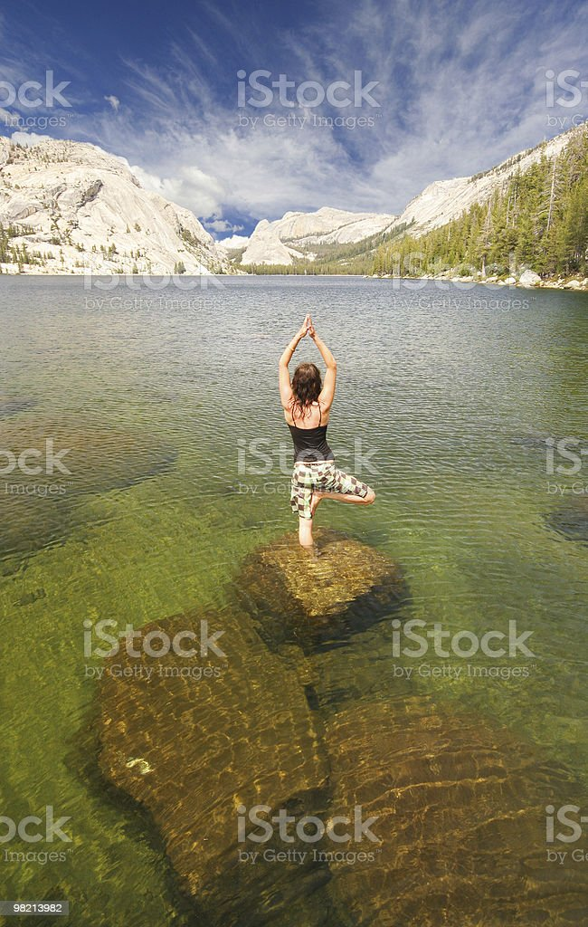 Aqua Yoga royalty-free stock photo