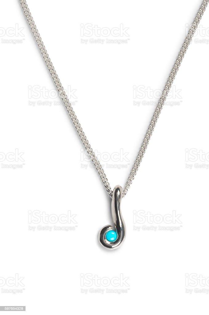 Aquamarine Necklace stock photo