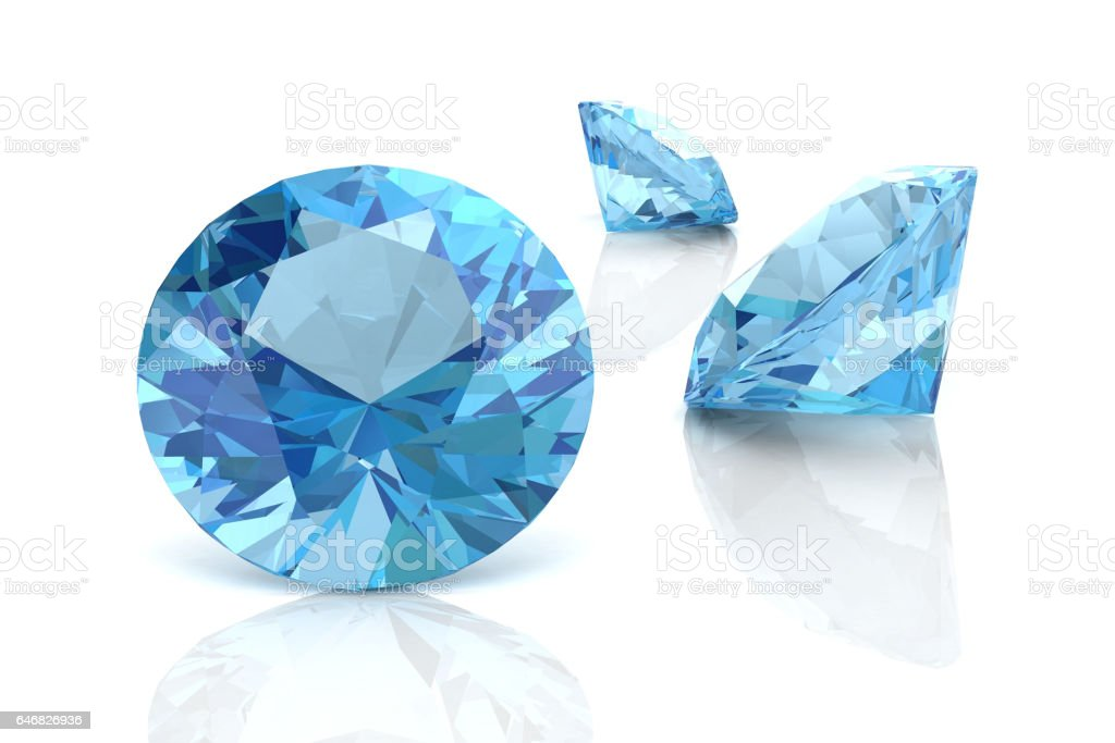 aquamarine(high resolution 3D image) vector art illustration