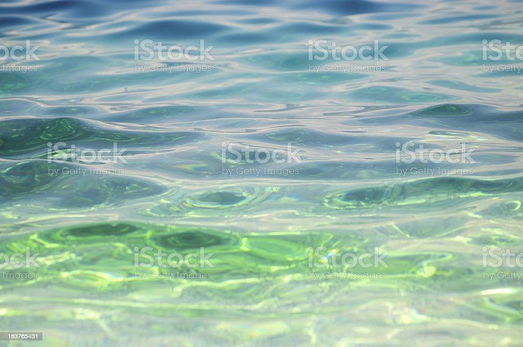 Aquamarine Rippling Water Background royalty-free stock photo